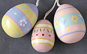 Wooden Eggs Set Of 3
