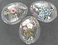 Vintage Blown Glass Hand Painted Eggs (Image1)