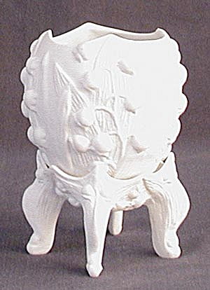 Bisque Lily of the Valley Egg Votive on Stand (Image1)