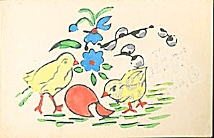 Easter Cards Eggs, Chicks & Pussy Willows (Image1)