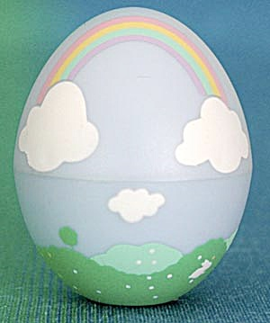 Vintage Hallmark Rainbow Egg Candy Container (Image1)