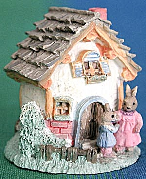 Egg House With Bunnies Decoration