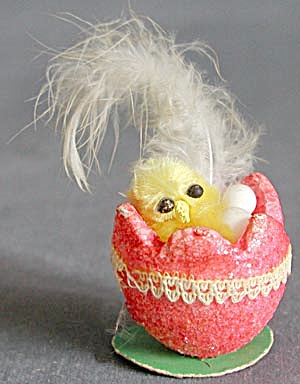 Vintage Easter Chick in Egg (Image1)