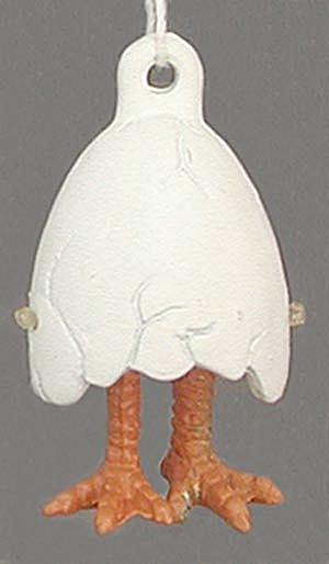 Pewter Egg with Chicken Legs Easter Ornament (Image1)