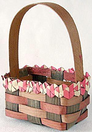 Vintage Woven Basket with Fancy Top (Image1)