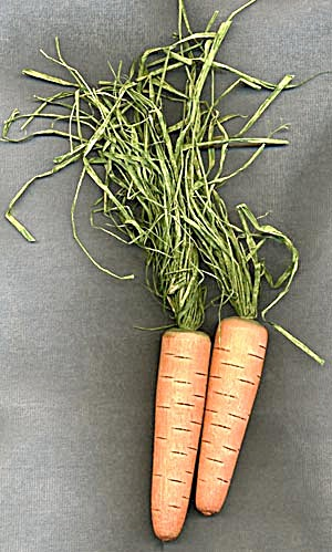 Pair Of Wooden Carrots