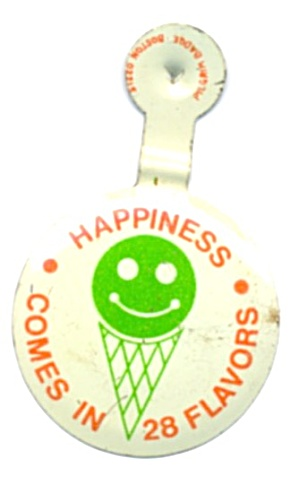 Baskin Robbins Happiness Comes In 28 Flavors Pin