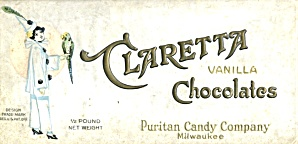 Vintage Claretta Vanilla Chocolates Candy Box