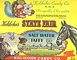 Vintage Kolikohm's State Fair Salt Wwater Taffy Box