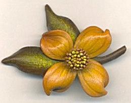 Vintage Leather Flower Pin (Image1)