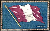 Tobacco Cigar Felt Flag Peru