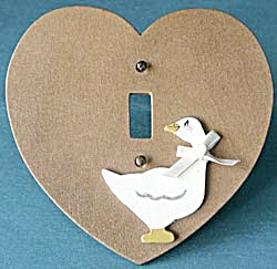 Vintage Goose & Heart Light Switch Plate Cover (Image1)