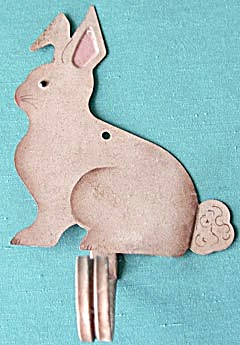 Tin Hand Painted Bunny Hook