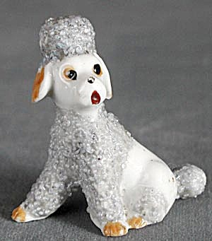 Vintage Blue and White China Poodle (Image1)