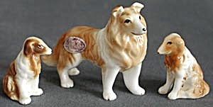 Bone China Collie and Puppies (Image1)