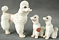 Vintage Bone China Poodle Family Set Of 3