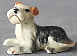 Vintage Bone China Terrier Figurine