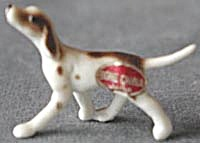 Vintage Bone China Pointer Dog Figurine