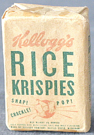 Vintage Miniature Kellogg's Rice Krispies Cereal Box