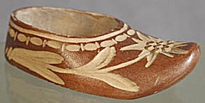 Vintage Wooden Hand Carved Shoe