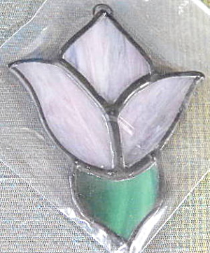 Vintage Stained Glass Flower