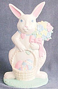 Vintage White Rabbit Doorstop