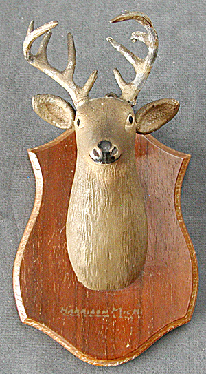 Vintage Miniature Stag Head Trophy