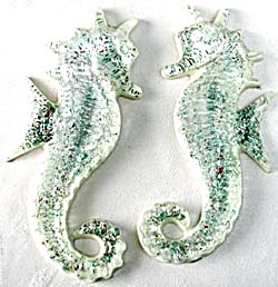 Vintage Lucite Seahorse Wall Hangings (Image1)