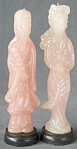 Vintage Oriental Man and Woman Candles Set of 2 (Image1)