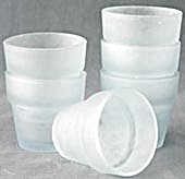 Frosted Blue Glass Flower Pots Set of 6 (Image1)