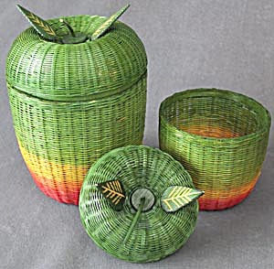 Vintage Apple Baskets Set Of 2