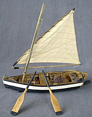 Wooden Sailboat Decoration (Image1)
