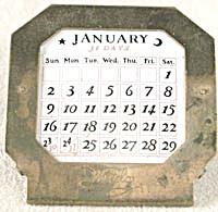 Vintage Westclox Perpetual Desk Calendar  (Image1)