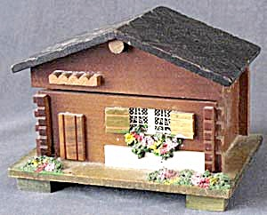 Vintage Wood Cottage Music Box