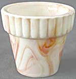 Vintage Akro Agate Orange Flower Pot (Image1)