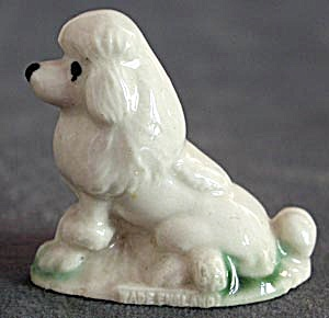 Wade Whimsy Figurine White Poodle