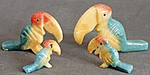 Vintage Onyx Toucan Family Set of 4 (Image1)