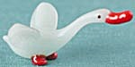Vintage Occupied Japan Glass Goose Figurine
