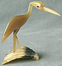 Vintage Hand Carved Horn Bird