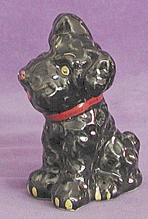 Vintage Large Black Sitting Dog (Image1)
