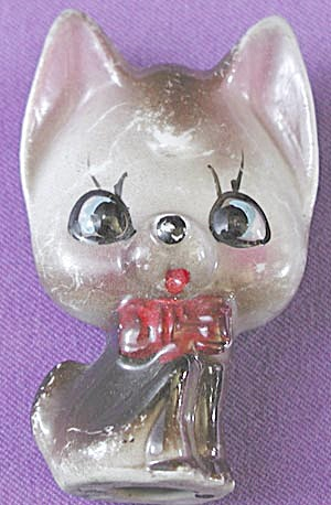Vintage Flat Cat China Figurine (Image1)