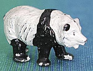 Vintage Britains Metal Panda Bear Figure  (Image1)