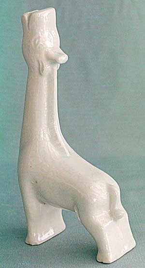 Vintage Small Mint Colored Giraffe Vase (Image1)