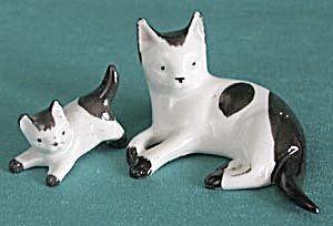 Vintage German Cat & Kitten (Image1)