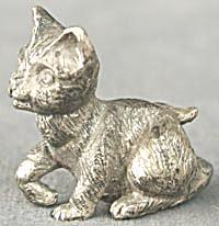 Rawcliffe Pewter Kitten Sitting (Image1)