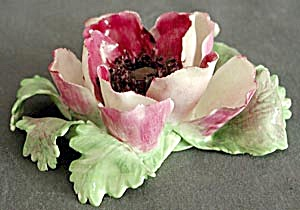 Vintage Crown Staffordshire Porcelain Poppy Figurine (Image1)