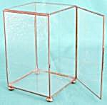 Vintage Brass & Glass Display Case For Smalls