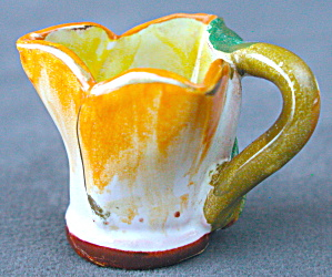 Vintage Hand Painted Flower miniature Pitcher