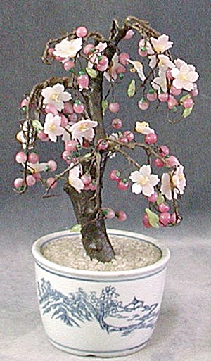 Vintage Glass Cherry Tree (Image1)