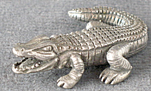 Pewter Crocodile / Alligator